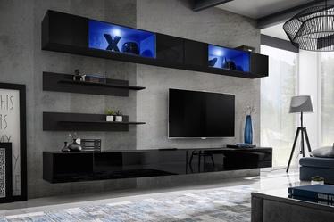 ASM Fly I Living Room Wall Unit Set LED Black