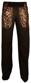 Bars Linen Trousers Black 163 2XL