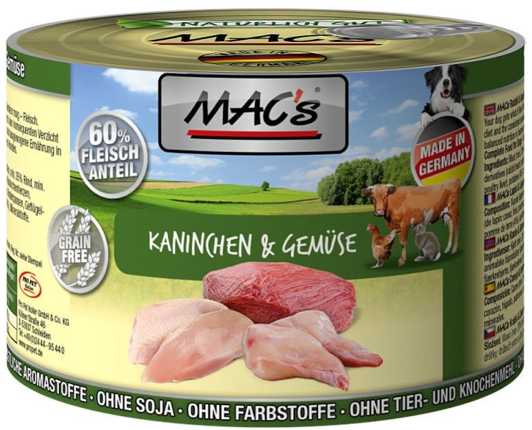 Mac's Rabbit & Vegetables 800g