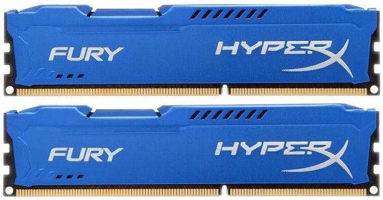 Kingston HyperX Fury Blue 16GB 1333MHz CL9 DDR3 KIT OF 2 HX313C9FK2/16