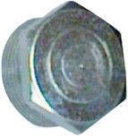 "Raccorfer Steel Cap with External Thread Zinc 1"""