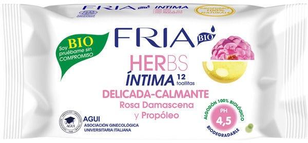 Fria Bio Herbs Intimate Wipes 12pcs Delicate