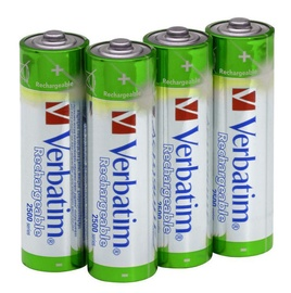 Verbatim Premium Rechargeable 4 x AA 2500mAh