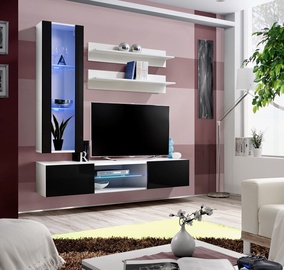 ASM Fly S2 Living Room Wall Unit Set Black/White