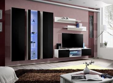 ASM Fly P4 Living Room Wall Unit Set Black/White