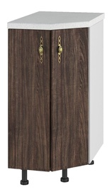 DSV Imperia ST 400 Kitchen Bottom Corner Cabinet Walnut