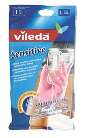 Vileda Gloves Sensitive Size M