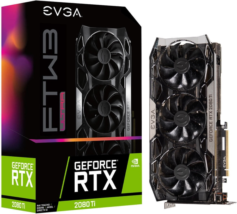 EVGA GeForce RTX 2080 Ti FTW3 Ultra Gaming 11GB GDDR6 PCIE 11G-P4-2487-KR