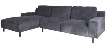 Угловой диван Home4you Hilde 21652, синий/черный, левый, 288 x 173 x 88 см