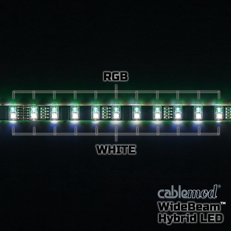 CableMod WideBeam Hybrid LED Kit RGB/W 30cm