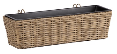 Home4you Wicker Balcony Flower Box Beige