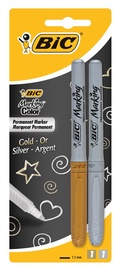 BIC Marking Color Permanent Marker Gold/Silver 2pcs