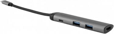 Verbatim USB-C 3.1 4-Port USB Hub Gray