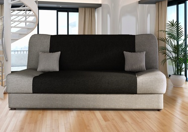 Диван-кровать Platan Jas 02 Grey/Black, 188 x 85 x 90 см