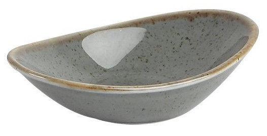 Porland Seasons Slant Plate 11cm Dark Grey
