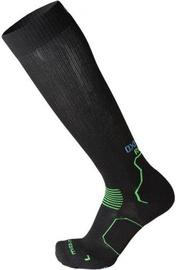 Mico Long Running Socks Oxi Jet Black/Green 38-40