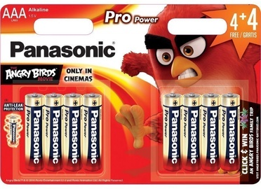 Panasonic Angry Birds Pro Power 4+4 x AAA Red