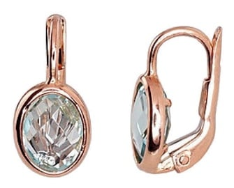 Diamond Sky Gold Earrings Topaz Magnificence II