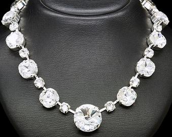 Diamond Sky Necklace Vortex With Crystals From Swarovski