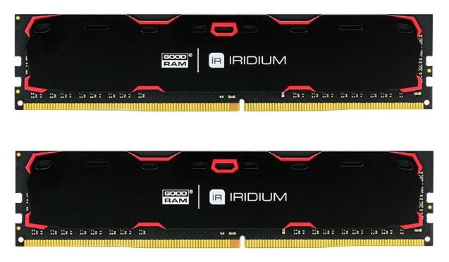 GoodRam IRIDIUM Black 16GB 2400MHz CL15 DDR4 DIMM KIT OF 2 IR-2400D464L15S/16GDC