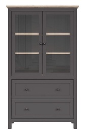 Black Red White Bocage REG2W2S Glass Cabinet Graphite/San Remo Oak
