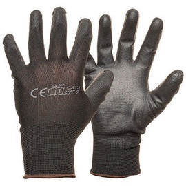 Monte Nylon Knitted Gloves With PU Black 7