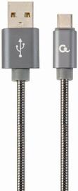 Gembird Premium USB To USB Type - C Spiral Metal Grey 1m