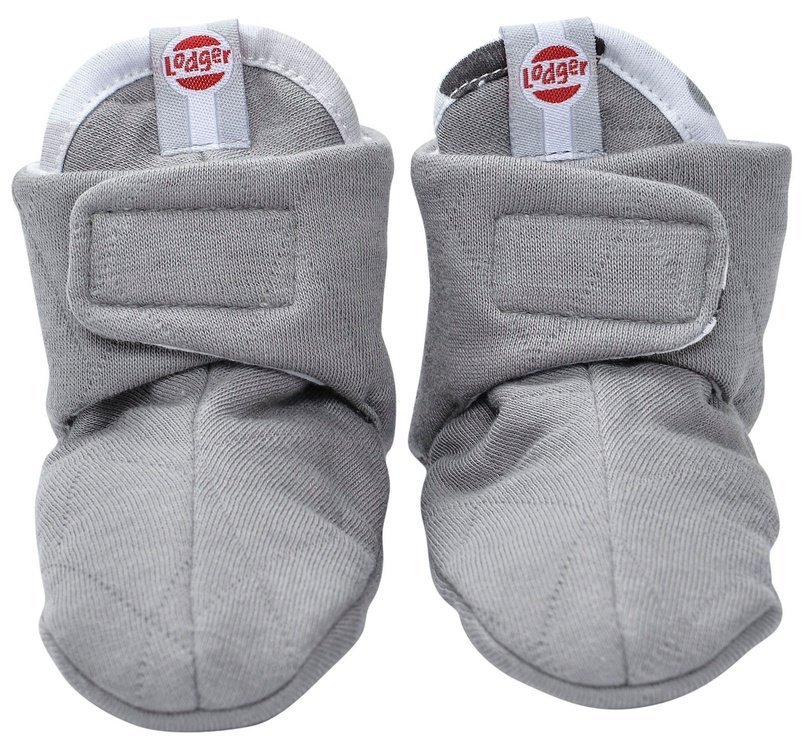 Lodger Slipper Cotton Grey 3-6m