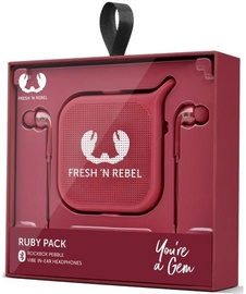 Fresh 'n Rebel Vibe In-Ear Earphones + Rockbox Pebble Ruby