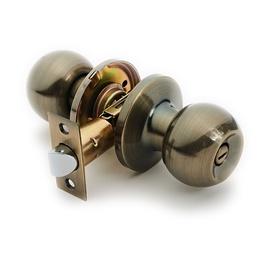 Domoletti Door Knob Lock 607 AB With Switch Antique Brass
