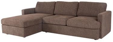 Угловой диван Home4you York LC Brown, 256 x 163 x 85 см