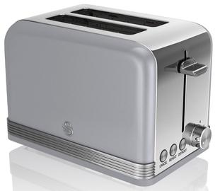 Swan 2 Slice Retro Toaster ST19010GRN Gray
