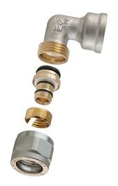 """Torupõlv 90° TDM Brass 1470E, 1/2""""x18mm, avatav"""