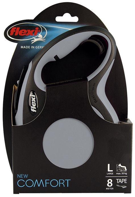 Flexi New Comfort Lead L 8m Grey