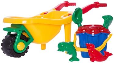 Liivakasti mänguasjade komplekt 4IQ Yellow, 6 tk