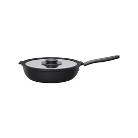 Fiskars Functional Form Saute Pan With Lid 26cm Black
