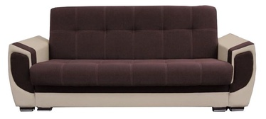 Diivanvoodi Idzczak Meble Delux Brown/Beige, 237 x 93 x 95 cm