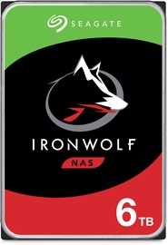"""Seagate IronWolf NAS HDD 3.5"""" 6TB 5400RPM 256MB ST6000VN001"""