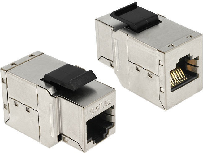 Delock Keystone RJ-45 to RJ-45 Cat.6A 86166