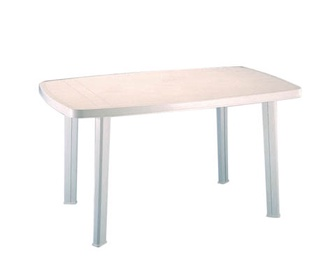 Садовый стол Verners Faro 90990, белый, 137 x 85 x 72 см