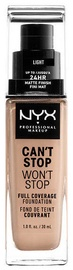 NYX Can't Stop Won't Stop Full Coverage Foundation 30ml Light
