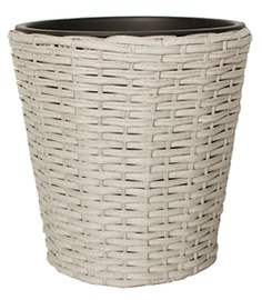 Home4you Flowerpot Wicker D25x25cm Grey