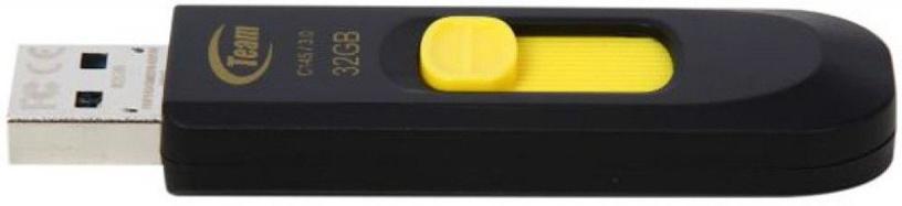 USB mälupulk Team Group C145 Black/Yellow, USB 2.0, 32 GB