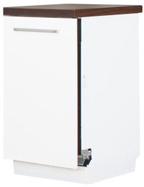 Нижний кухонный шкаф Bodzio ZZ45W White, 450x590x860 мм