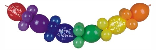 "Papstar Balloon garland 2 m ""Happy Birthday"" 30PCS"
