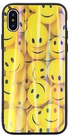 Beline Ultra Slim Back Case With Picture Under Glass For Samsung Galaxy S10 Yellow Smiles