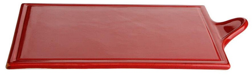 Porland Seasons Cheese Serving Plate 29.57x17.74cm Red