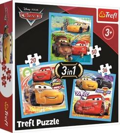 Pusle Trefl 3-In-1 Cars 34848, 20/36/50 tk