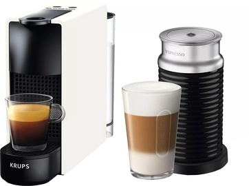 Kohvimasin Krups Nespresso Essenza Mini & Aeroccino3 XN1111 Black/White