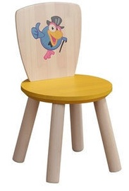 MN Children Chair Crow Wood/Yellow